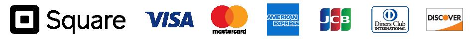 対応クレジットカードはVisa(ビザ)、MasterCard(マスターカード)、American Express(アメリカン・エキスプレス)、JCB(ジェーシービー)、Diners Club(ダイナースクラブ)、DISCOVER(ディスカバーカード)になります